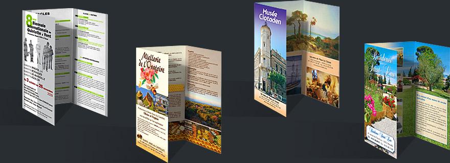 Relativ Studio Empreinte Graphisme Marseille :: Dépliants 3 volets  TA56
